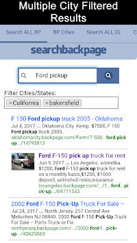 Search All Backpage Craigslist Pro Free Poster