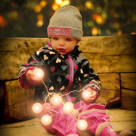 With lights by Michaela Firešová - Babies & Children Child Portraits ( portrait, lights, child )