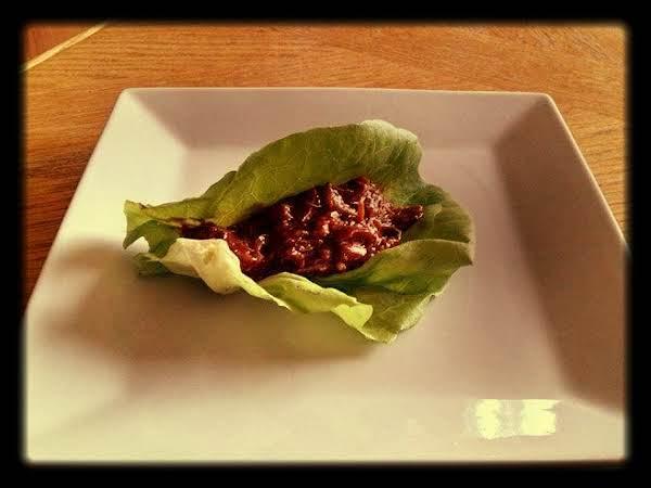 Slow Cooker Sesame Chicken Lettuce Wraps