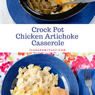 Crock Pot Chicken Artichoke Casserole.