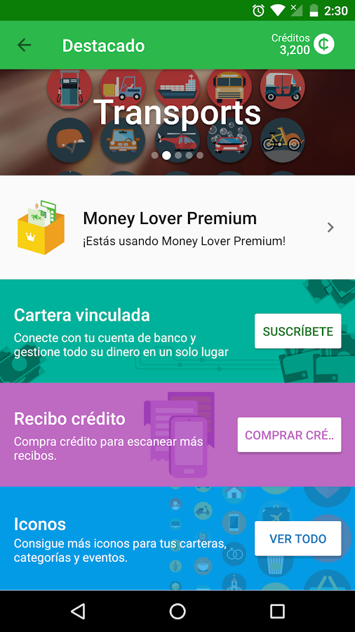 Money Lover - Controlar Gastos & Presupuesto: captura de pantalla