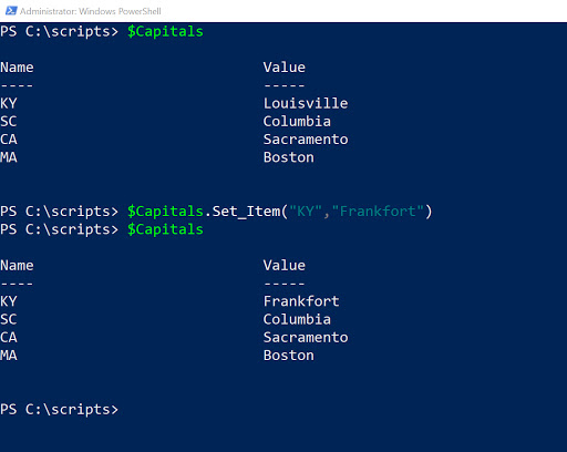 Building PowerShell hash tables