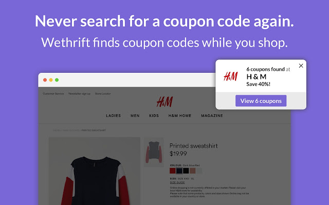 Wethrift - Coupons, Promos, Discount Codes