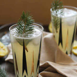 Pine-Infused Vodka Sour Cocktail.