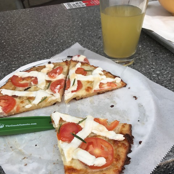 Gluten free pizza comes with it's own pizza cutter.