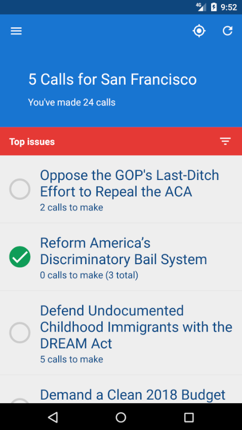 5 Calls- screenshot