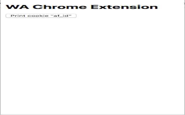 WA Chrome Extension