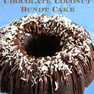 Candy Bar Chocolate Coconut Bundt Cake