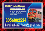 Top One NVM freight Movers No. one in Chennai Freight Movers  | Rs 7/-  per KG