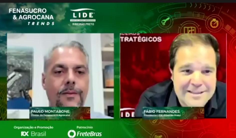 Paulo Montabone - Diretor da Fenasucro & Agrocana e Fábio Fernandes - Presidente LIDE Ribeirão Preto