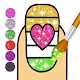 Glitter Nails coloring and drawing for kids Apk