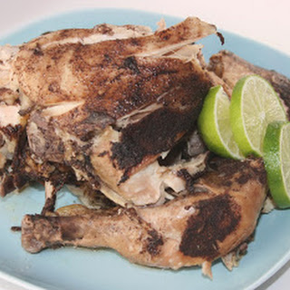 Slow Cooker Caribbean Jerk Chicken.