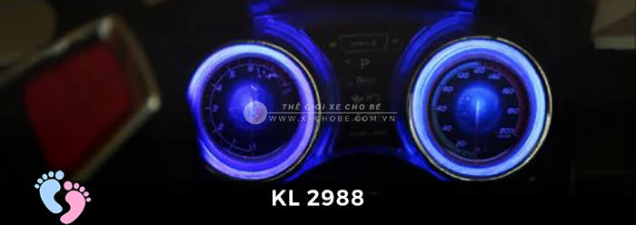 Xe ô tô điện đồ chơi trẻ em KL-2988 ghế da 14