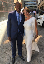 DA leader Mmusi Maimane with his wife Natalie ahead of the state of the nation address in parliament in Cape Town on February 7 2019.
