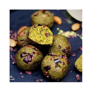 Matcha Cookie Dough Balls