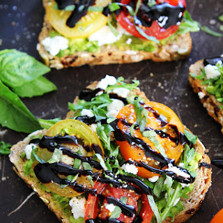 Avocado, Tomato, and Goat Cheese Toast