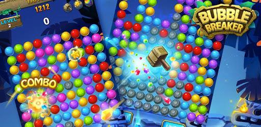 Bubble Breaker is a fun crush bubble games.