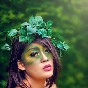 green by An'naas Sobrie Al Arif - People Portraits of Women ( model, fashion, people, women )
