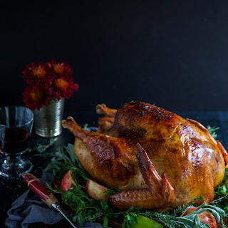 Apple Cider-Glazed Roasted Turkey with Herbed Butter