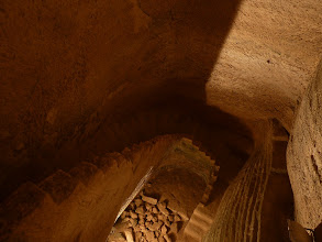 Photo: An underground maze of tunnels, chambers and stairs at Beit Guvrin.