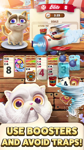 Solitaire Pets Adventure - Free Classic Card Game screenshots 5