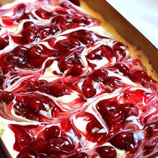 Cherry Cheesecake Surprise Layered Dessert.