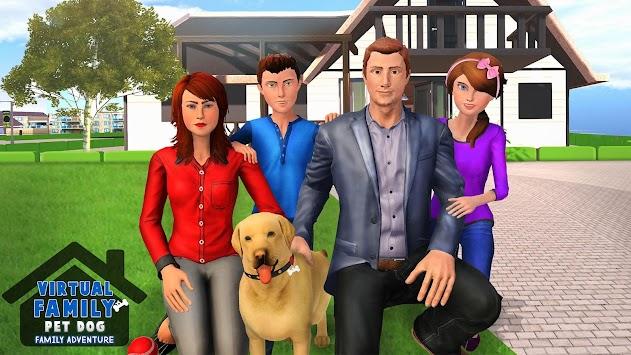 Family Pet Dog Home Adventure Game