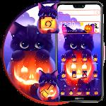 Dark Halloween Cat Theme Icon