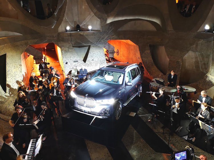 BMW's new X7 luxury SUV is unveiled at black-tie function at Cape Town's Zeitz Museum of Contemporary Art Africa.