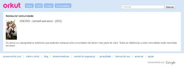 Photo: INFORME ATUAL: O perfil disfarçado de gnóstico abdalla mifleh já não existe mais ( 28/10/2012 ).  MENOS UM ENGANADOR!. .