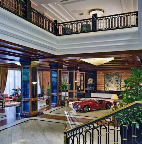 Photo: Did someone park their car in the lobby!? The spectacular Meliá hotel Milano.