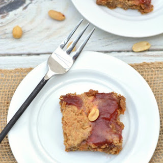 Gluten Free Peanut Butter and Jelly Skillet Cookie