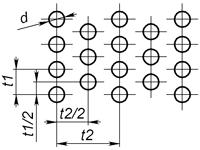 e1 - Круглое отверстие с симметричным смещением