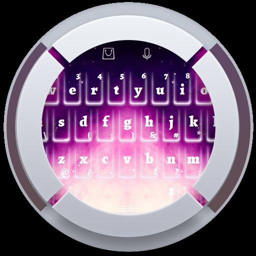 パープル銀河のキーボード 個人化 App LOGO-APP試玩