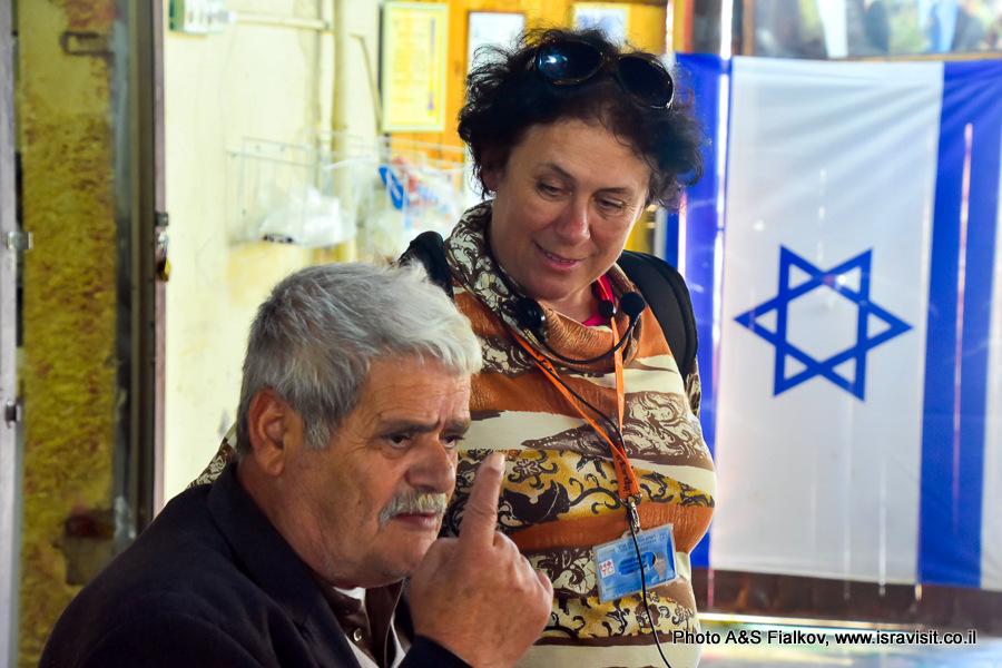 Гид в Израиле Светлана Фиалкова. На экскурсии.