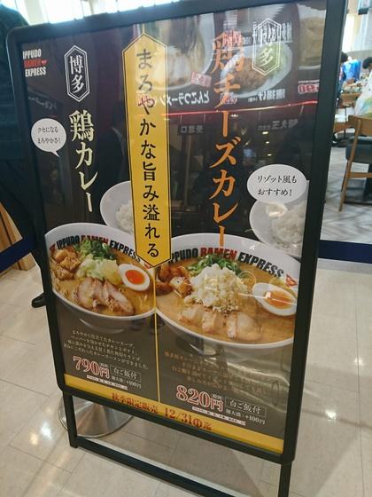 IPPUDO RAMEN EXPRESS 佐野プレミアム・アウトレット店@佐野市(博多鶏チーズカレー 296/'17)
