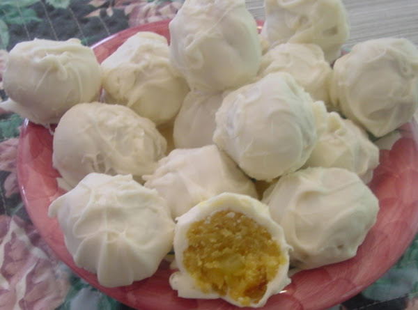 Lemon Filled Cake Balls Recipe