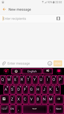 Neon Pink Keyboard - screenshot