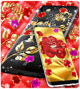 Gold rose live wallpaper Apk Download For Android 4