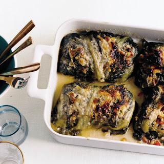 Mediterranean Rice-Stuffed Escarole