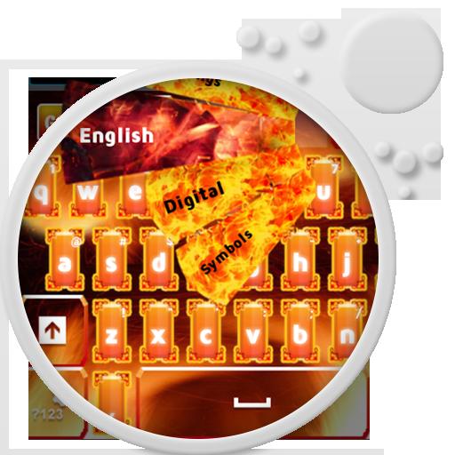 GO Keyboard Flame HD