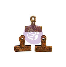 Prima Art Daily Planner Metal Binder Clips 3/Pkg - Rusty