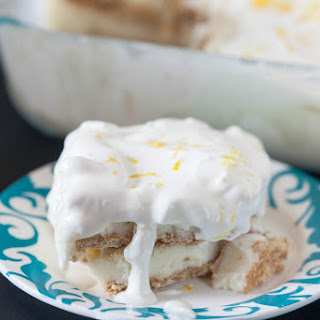 Lemon Ice Cream Cake.