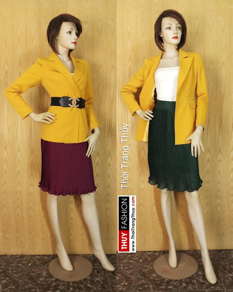Áo vest nữ công sở màu vàng V658 tại Hải Phòng