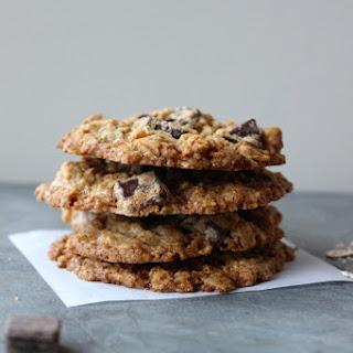 Dark Chocolate and Walnut Oatmeal Cookies