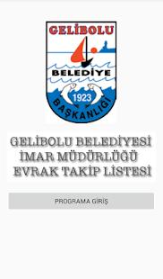 Gelibolu Belediyesi İmar Evrak Takip - náhled