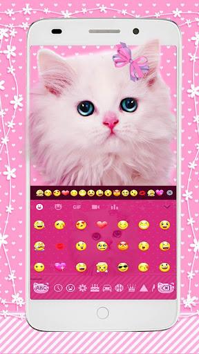 cute pink kitty keyboard screenshot 2