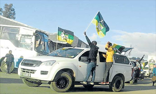 EXPOSED: An Isuzu double cab used for official municipal work by Matatiele local municipality mayor Momelezi Mbedla, was photographed by DA ward councillor Wonga Potwana while being driven around during an ANC campaign on Monday afternoon Picture: SUPPLIED
