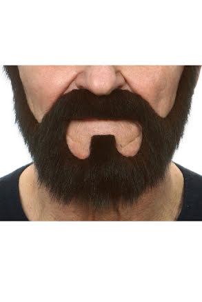Skepparkrans med mustasch, svart