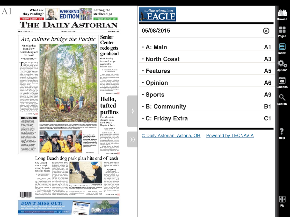 Daily Astorian e-Edition- screenshot